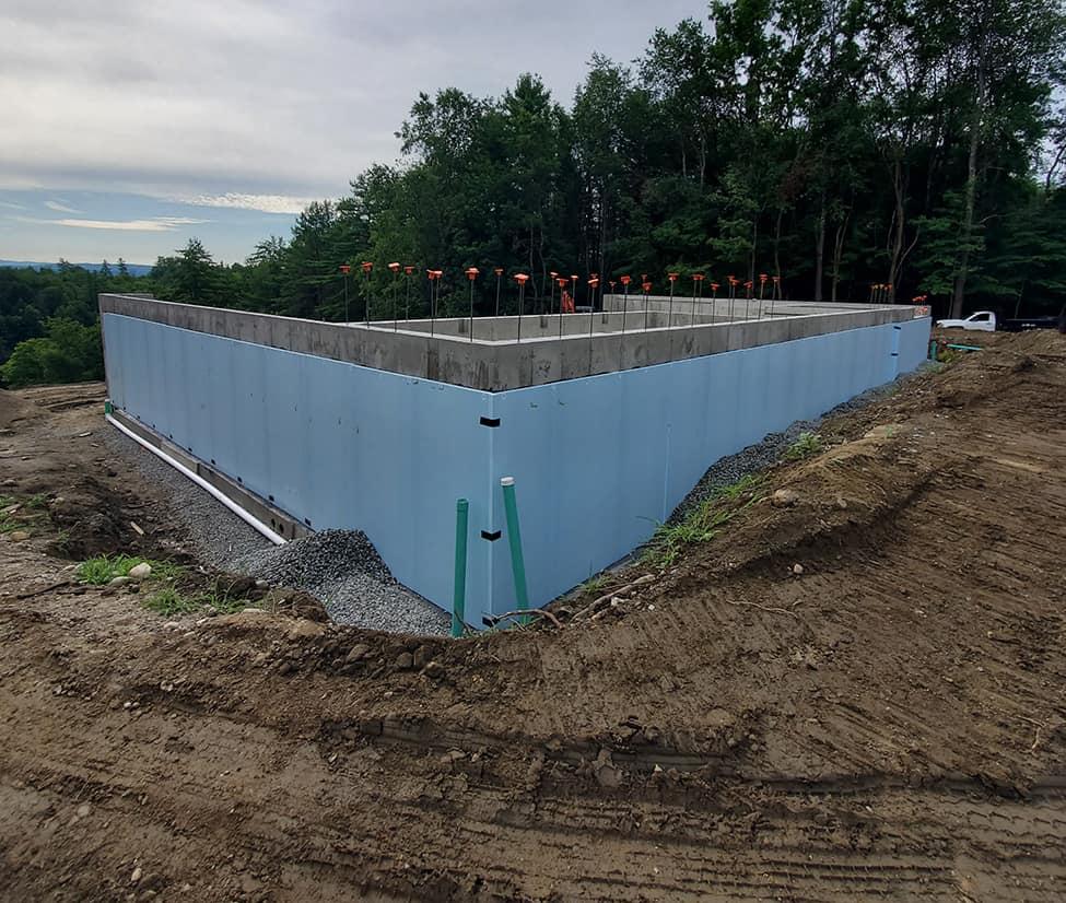 Exterior foundation insulation